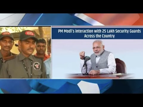 PM Shri Narendra Modi's interaction with 25 Lakhs Security Guards across the Country
