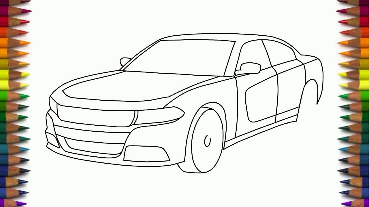 How to draw dodge challenger rt 2011 - How To Draw Dodge Charger Rt 2015 Step By Step Easy For Beginners