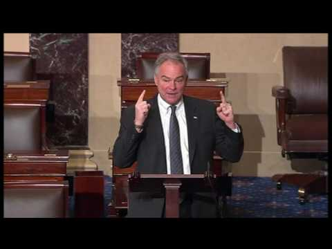 U.S. Senator Tim Kaine (D-Va.) speaks out against Betsy DeVos