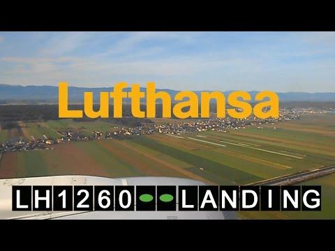 Lufthansa Boeing 737 LH 1260 Frankfurt Airport - Graz | Landung Flughafen Graz