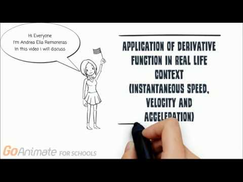 APPLICATION OF DERIVATIVE FUNCTION IN REAL LIFE CONTEXT