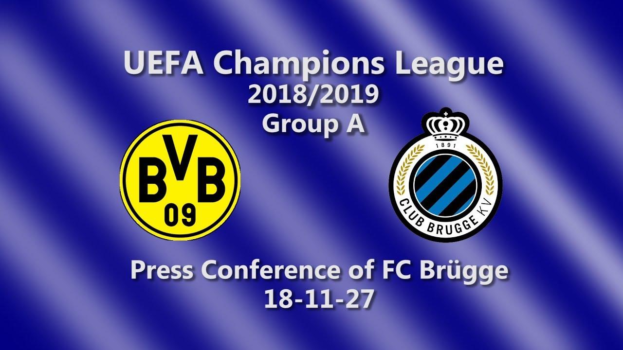 Borussia Dortmund - FC Brügge: Pk des FC Brügge