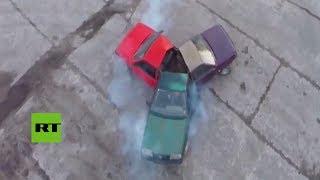 Rusia: crean un 'fidget spinner' hecho de autos