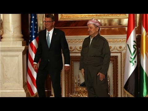 Iraq: US defence chief Carter in surprise visit to assess battle for Mosul