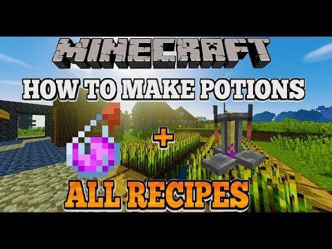 Minecraft How To Make Potions After All Updates + All Recipes (EASY)