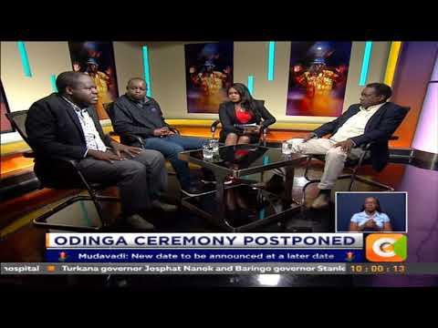 Sunday Live : Raila Odinga Ceremony postponed