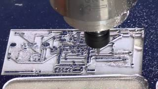 HT-3040 mini desktop cnc router, engraving on PCB