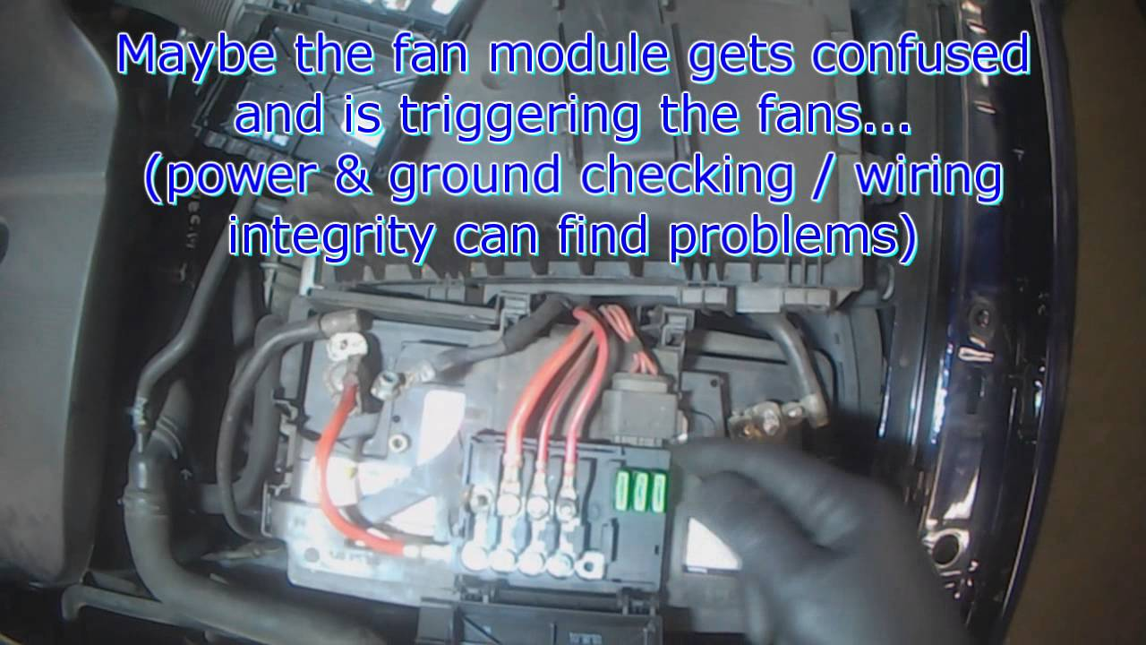 vw  weird cooling fan behavior youtube