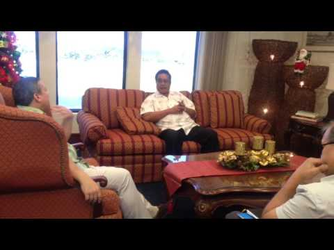 Chuck State Gov. Johnson Elimo and Guam Gov. Eddie Calvo Meet