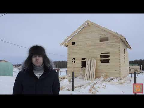 Дом 8*8 из бруса естественной влажности с террасой 3*4 в поселке Майский Вологодского района