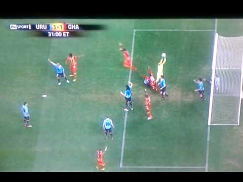 Ghana Vs Uruguay world cup 2010 Hand ball