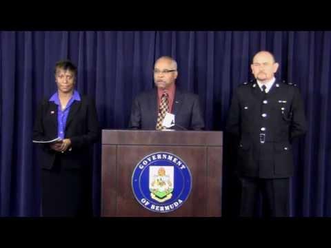 Minister Blakeney, Donna Watson, Supt. Martin Weekes On Carifta Bermuda Mar 28 2012