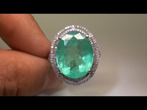 "$23,575-estate-antique-1950's-muzo-mined-15.52-ct-colombian-emerald-""see-video"""