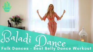 BALADI dance tutorial basic moves - Best Belly Dance Workout