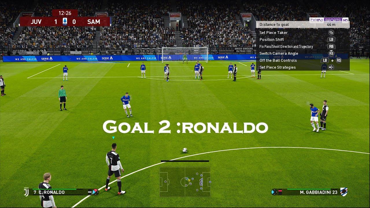 Juventus vs Sampdoria   Scoreboard for eFootball PES 2020 Gameplay ...