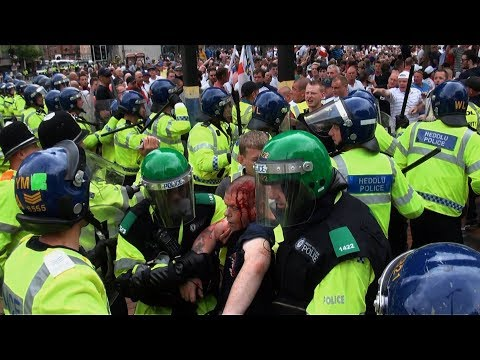 English Defence League Birmingham Riot