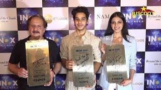 Ishaan Khattar & Malavika Mohanan PROMOTE Their Film Beyond The Clouds At Inox Cinema In Mumbai