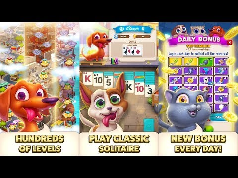 Solitaire Pets Adventure - Free Classic Card Game Android Gameplay
