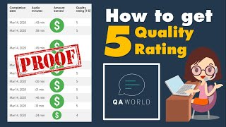 Tips on How to Get 5 Quality Rating at QA World  MamaChincha
