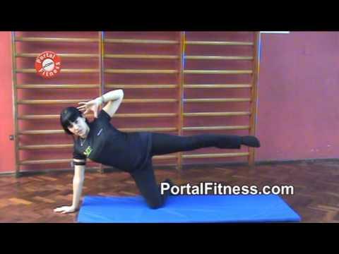 Pilates Mat - Elevación lateral de la pierna (Kneeking side kick). Parte 29