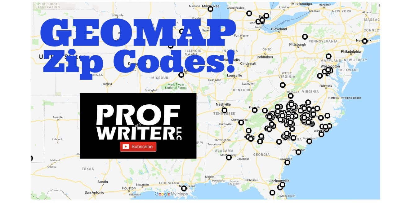 Geomapping Zip Codes On Google My Maps Youtube