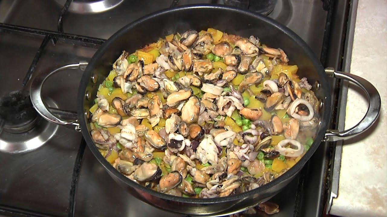 паэлья испанская с морепродуктами рецепт с фото