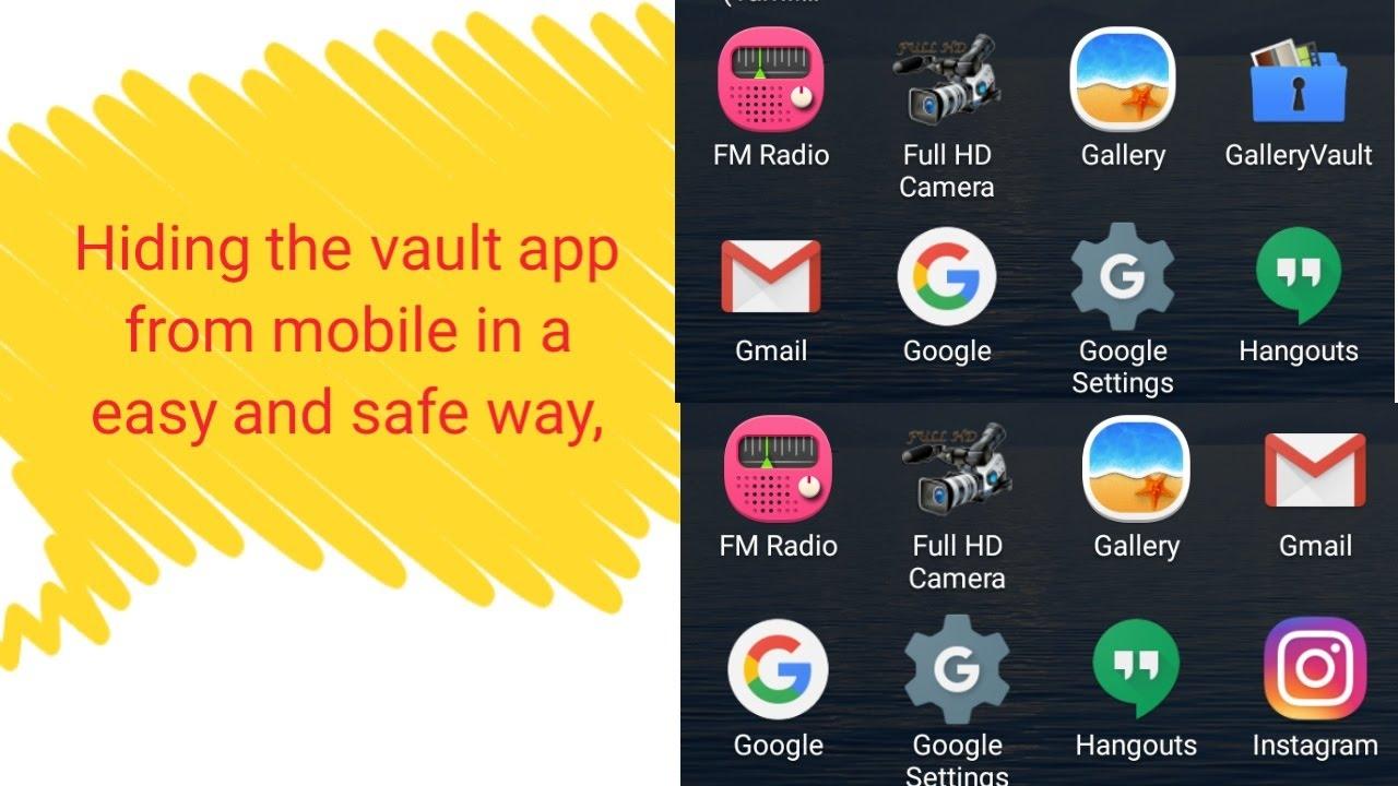 How to hide the Vault App from mobile(யாராலும் கண்டு பிடிக்க முடியாது அந்த  Appஆ)