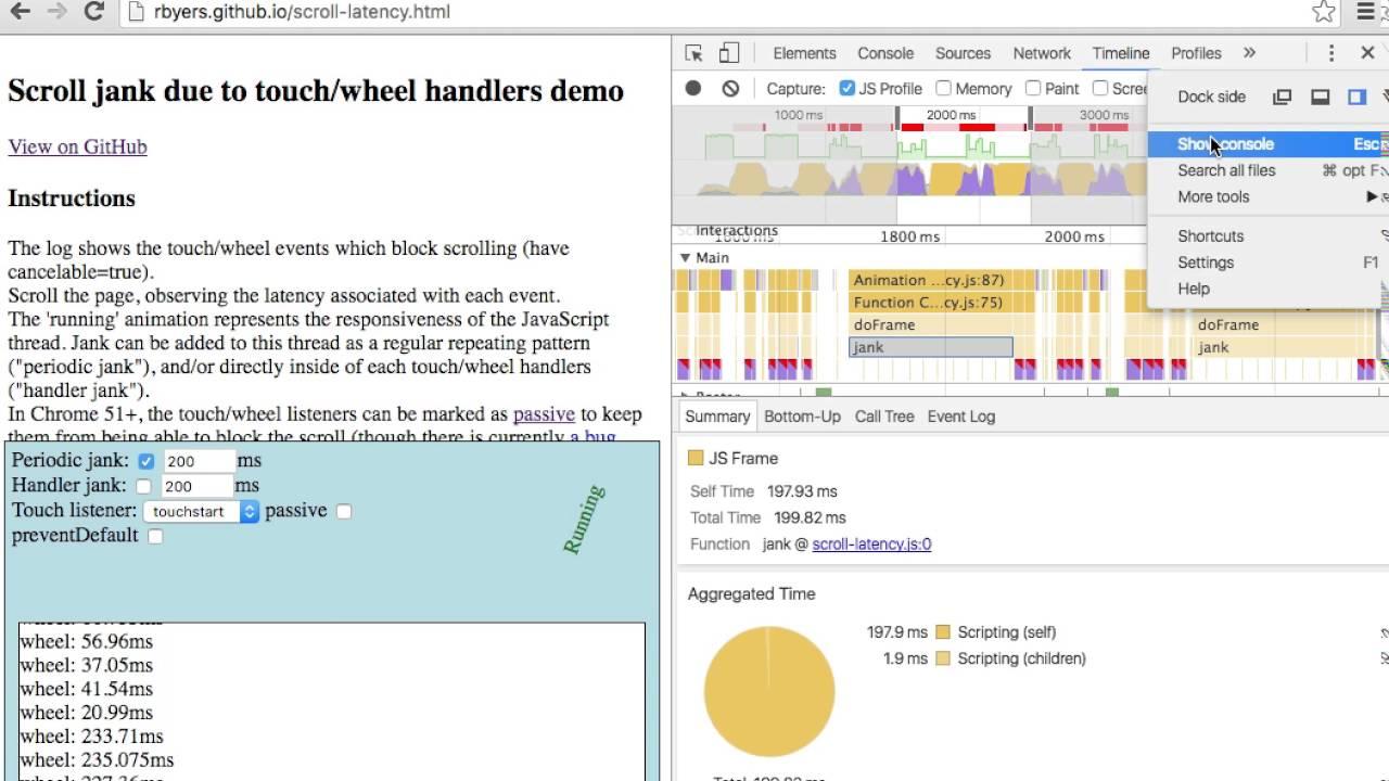 Debugging Scroll Jank in Chrome 51