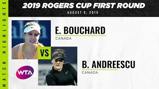 Eugenie Bouchard vs. Bianca Andreescu | 2019 Rogers Cup First Round | WTA Highlights