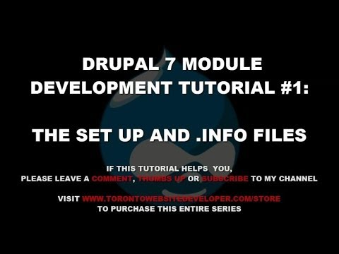 Drupal 7 Module Development Tutorial #1 - Setting Up Our Project and Writing our .Info File