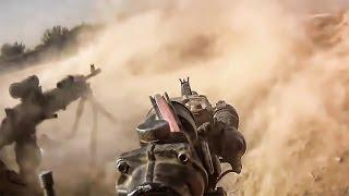 Камера на боевом шлеме - Перестрелки в Афганистане.Оружие запада. Армии мира.