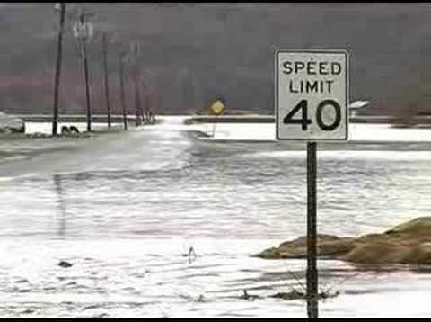 Surveying the flood damage in Pine Island