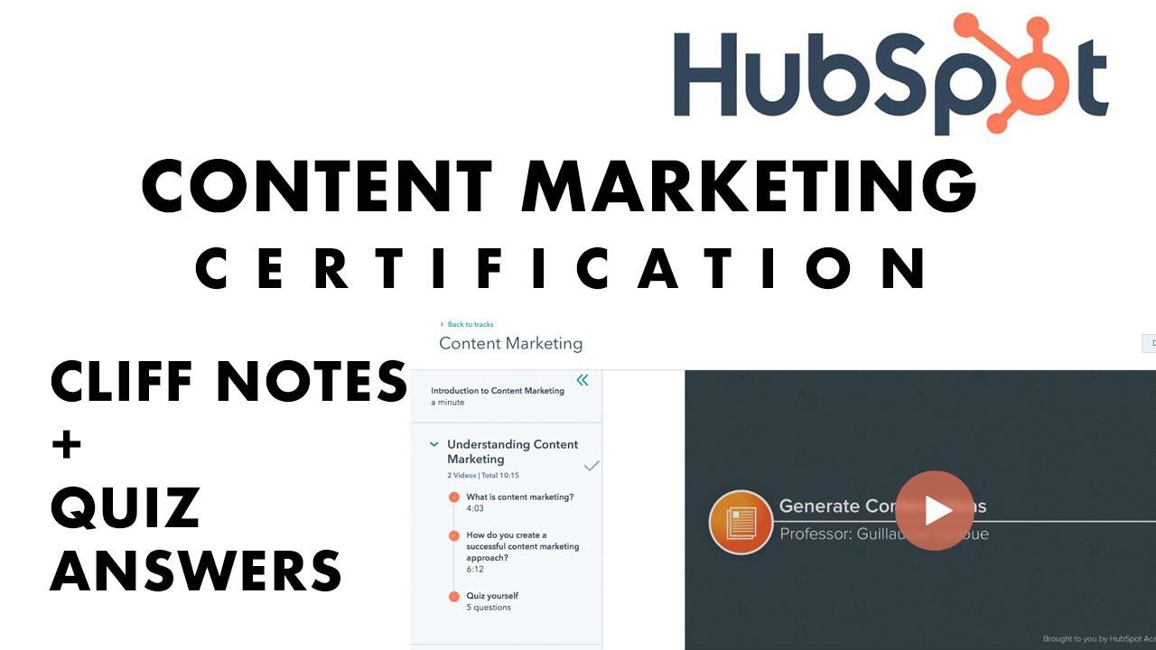 hubspot certification marketing