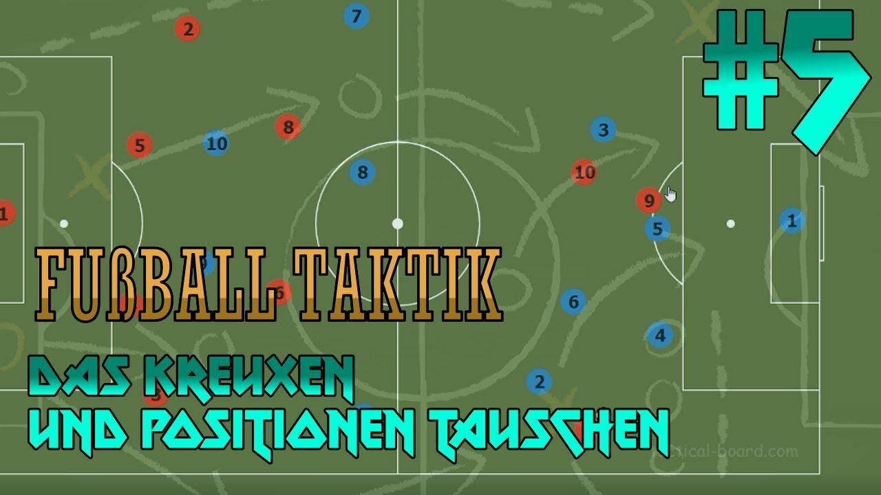 Wichtiges Element Im Angriff Positionen Tauschen Fußball Taktik