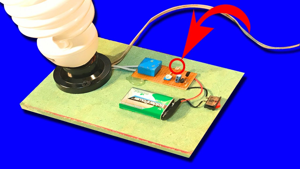 How to make automatic night light circuit ldr youtube how to make automatic night light circuit ldr pooptronica Images