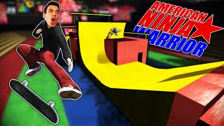SKATING THE NINJA WARRIOR OBSTACLE COURSE! (Skate 3)