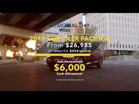Chrysler Pacifica Memorial Day Sales Event Specials
