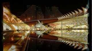 Come astronavi dallo spazio profondo HD città delle arti e delle scienze di Valencia