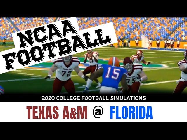 2020 Texas A&M at Florida NCAA Football simulation
