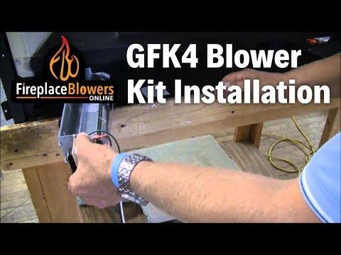 GFK4 GFK4A Fireplace Blower Kit Installation