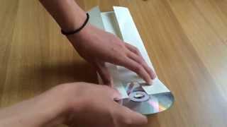 как сделать УПАКОВКУ для CD- диска своими руками