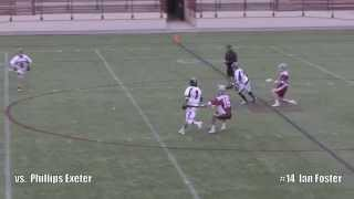 2014 Brewster Academy Lacrosse   #14 Ian Foster Highlight