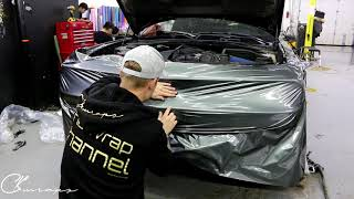 SUPER CHALLENGING Front Bumper Wrap  How To Wrap A Front Bumper Dodge Challenger 392