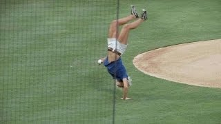 The greatest flipping first pitch you