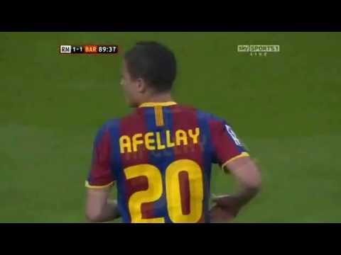 Ibrahim Afellay vs Real Madrid Away 10-11