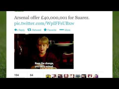 Arsenal Luis Suarez Bid | Best Tweets | Comment!