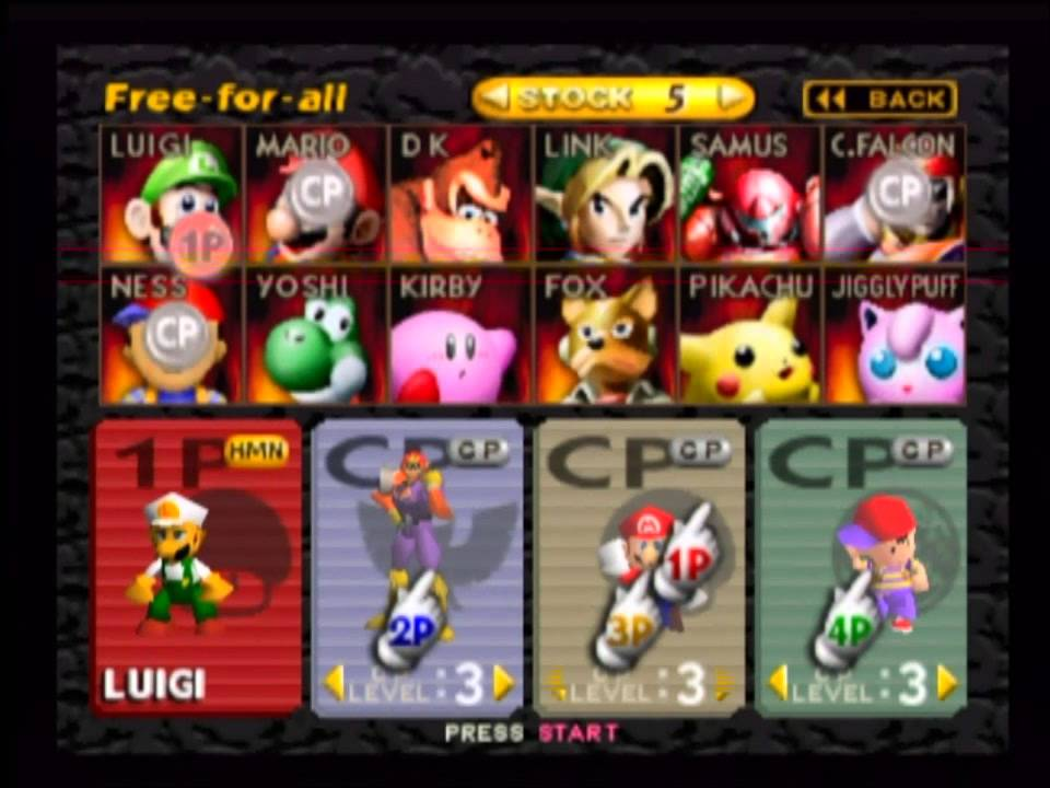 Image result for super smash bros 64