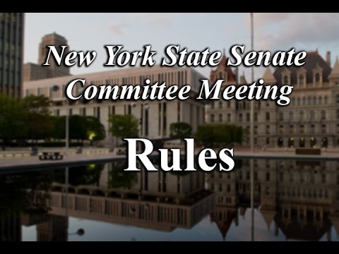 Senate Committee on Rules 1/23/17