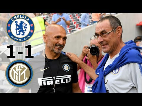 Chelsea vs Inter 1-1 (5-4) All Goals & Highlights 2018