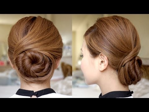 sophisticated twisting bun hair